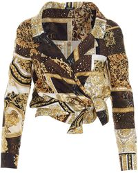 Versace SEIDE HEMD - Mehrfarbig