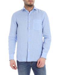 Aspesi Light-blue Linen Shirt