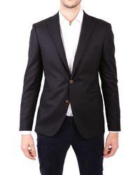 Tagliatore Black Cotton Suit