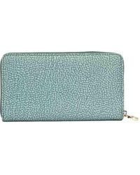 Borbonese Polyester Wallet - Green