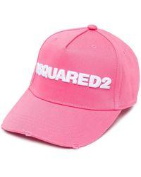 DSquared² Baseballkappe mit Logo - Pink