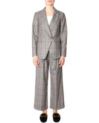Brunello Cucinelli - Brown Wool Jumpsuit - Lyst