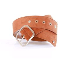 Annarita N. Brown Leather Belt