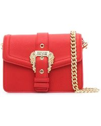 Versace Jeans Couture POLYURETHAN SCHULTERTASCHE - Rot