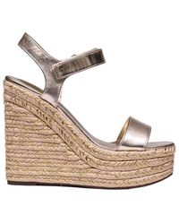 Kendall + Kylie Leather Wedges - Metallic