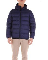 Aspesi Blue Polyester Down Jacket