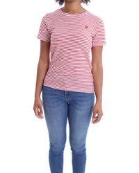 Molly Bracken E1108e20 Cotton T-shirt - Red