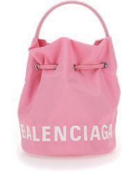 Balenciaga Nylon SCHULTERTASCHE - Pink