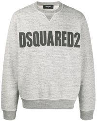 DSquared² Sweatshirt mit Logo-Print - Grau