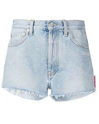 Off-White c/o Virgil Abloh Cotton Shorts - Blue