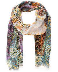 Etro - Multicolour Cotton Scarf - Lyst