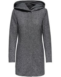 ONLY Gray Polyester Coat