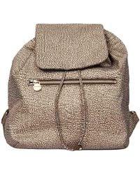 Borbonese Polyester Backpack - Natural