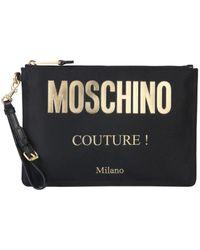 Moschino Couture Logo Clutch - Black