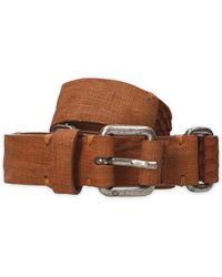 Eleventy - Brown Leather Belt - Lyst