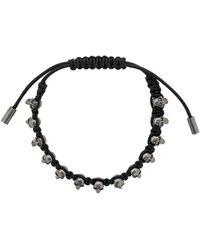 Alexander McQueen Skulls Bracelet - Black