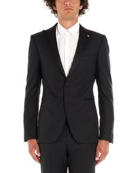 Tagliatore Black Wool Suit