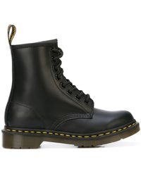 Dr. Martens - Black Leather Ankle Boots - Lyst