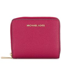 Michael Kors Fuchsia Leather Wallet - Purple
