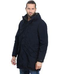 Aspesi Blue Polyester Outerwear Jacket