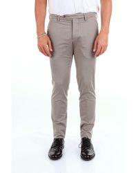 Michael Coal Grey Cotton Trousers