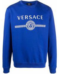 Versace BAUMWOLLE SWEATSHIRT - Blau