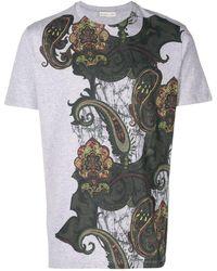 Etro - T-Shirt mit Paisleymuster - Lyst