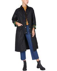 Barbour Lwx1204bk71 andere materialien trench coat - Schwarz