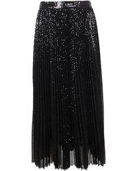 MSGM Black Polyester Skirt