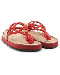 Maliparmi Malìparmi Leather Sandals - Red