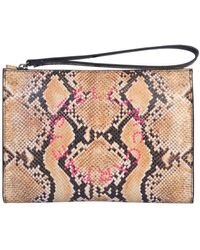 Stella McCartney Brown Synthetic Fibres Pouch