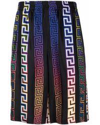 Versace Shorts aus Seide - Schwarz