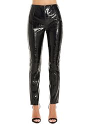 Pinko Black Polyester Trousers