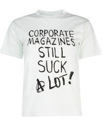 Vetements Wah20tr315off Cotton T-shirt - White