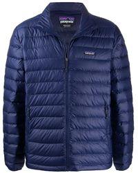 Patagonia Polyester Down Jacket - Blue