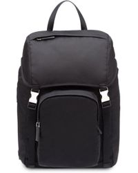 Prada Black Polyester Backpack