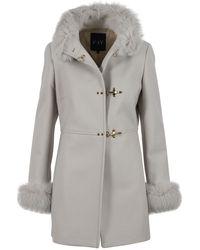 Fay Wool Coat - Grey