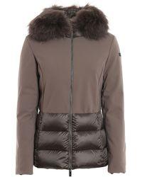 Rrd Winter Hybrid Fur Puffer Jacket - Brown