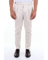 Michael Coal Cotton Pants - White