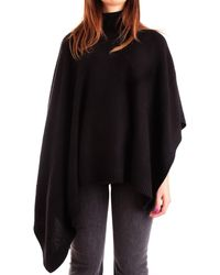 Michael Kors Wool Poncho - Black