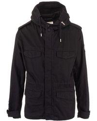 Saint Laurent - Black Cotton Coat - Lyst