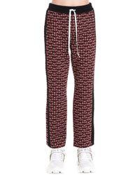 Miu Miu Red Viscose Sweatpants