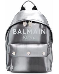 Balmain Leather Backpack - Metallic