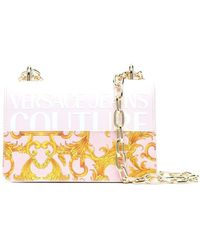 Versace Jeans Couture Polyurethane Shoulder Bag - Pink