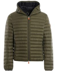 Save The Duck Nylon Puffer Jacket - Green