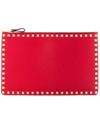 Valentino Garavani Leather Pouch - Red