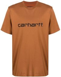 Carhartt BAUMWOLLE T-SHIRT - Braun