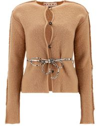 Marni Cdmd0221c0ufx39700w78 Other Materials Cardigan - Brown
