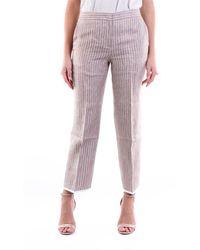 Fabiana Filippi Bi-color Chino Trousers With Stripes - Multicolour
