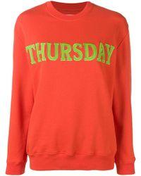 Alberta Ferretti - Red Cotton Sweatshirt - Lyst